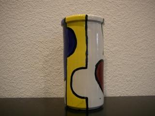 Mondrian-Style Vase
