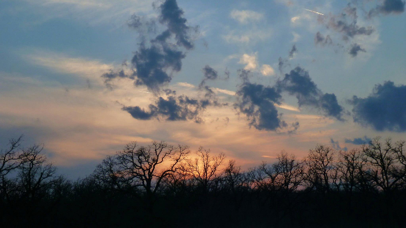 Sunset in the Wichita Mountains