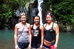Hiking up 7 waterfalls