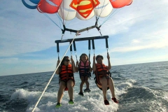 Parasailing with my cousin and aunt