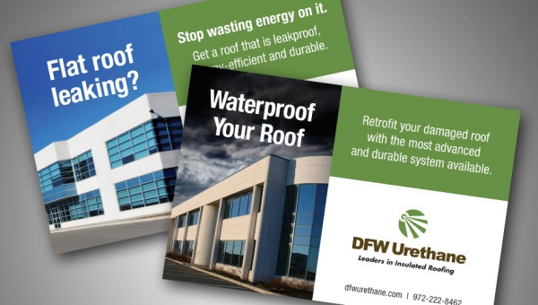 Direct mail campaign for DFW Urethane